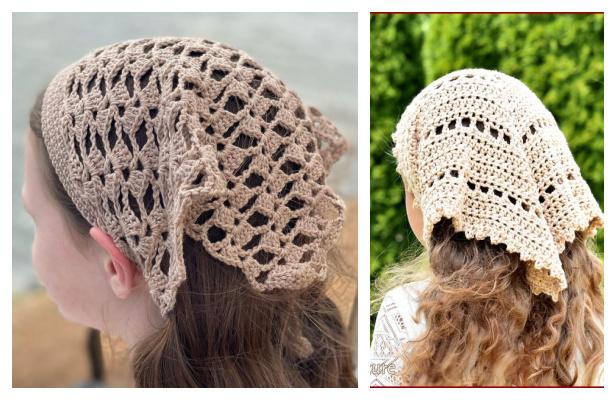 Headscarf Bandana Kerchief Free Crochet Patterns