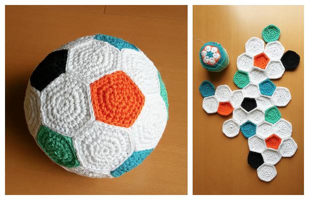 Crochet Soccer Ball Free Crochet Pattern & Paid
