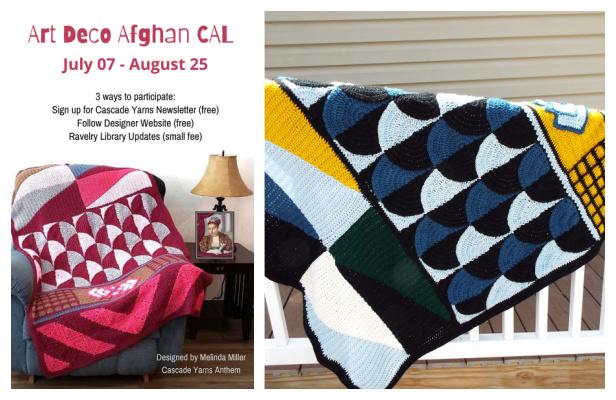 Art Deco Afghan Blanket Free Crochet Pattern