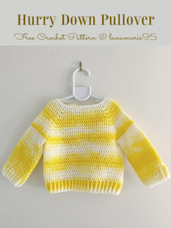 Baby Hurry Down Pullover Free Crochet Patterns