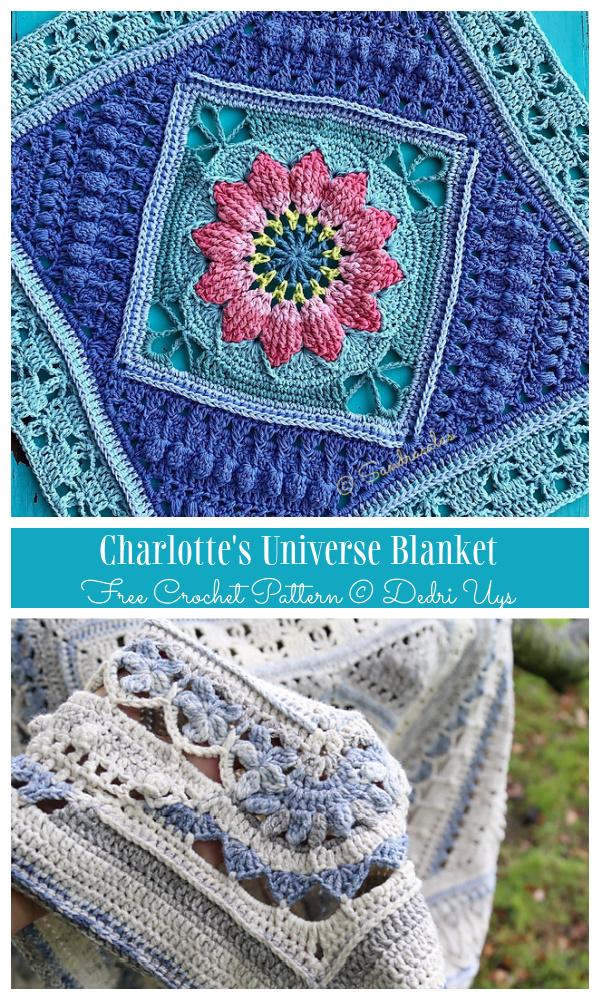 Charlotte's Universe Bhlanket Free Crochet Patterns
