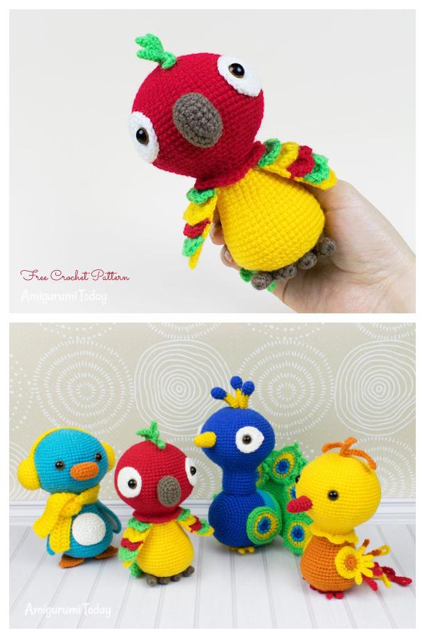 Crochet Pedro the Parrot Amigurumi Free Patterns