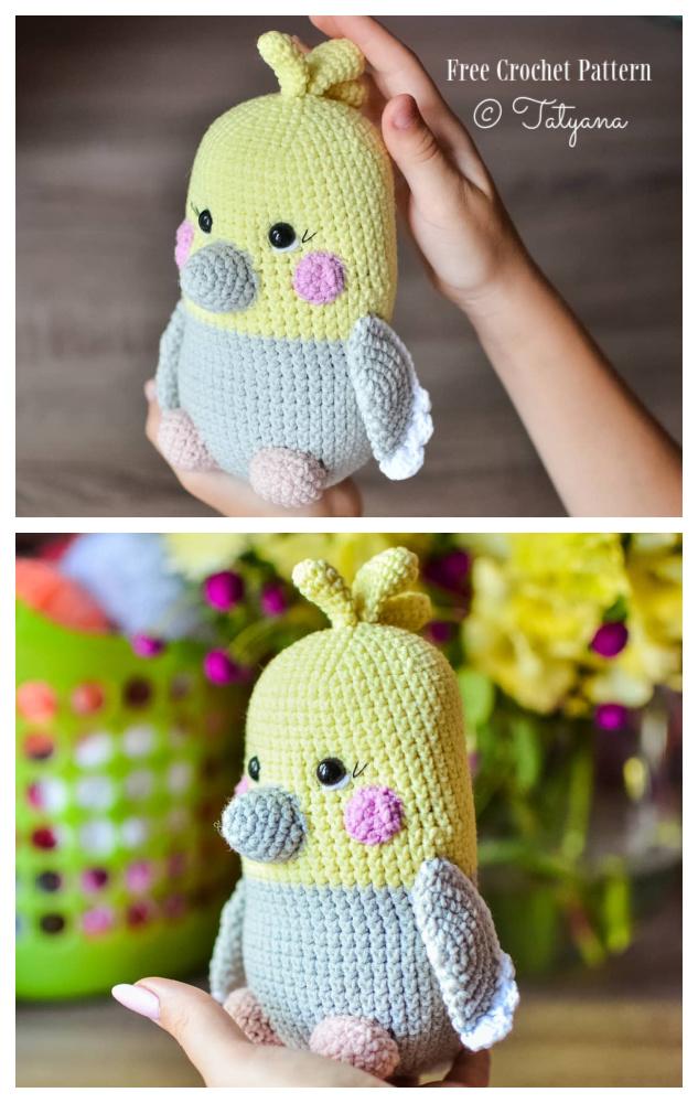 Crochet Chubby Parrot Amigurumi Free Patterns