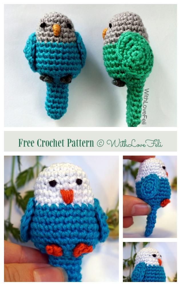 Crochet Small Parrot Amigurumi Free Patterns