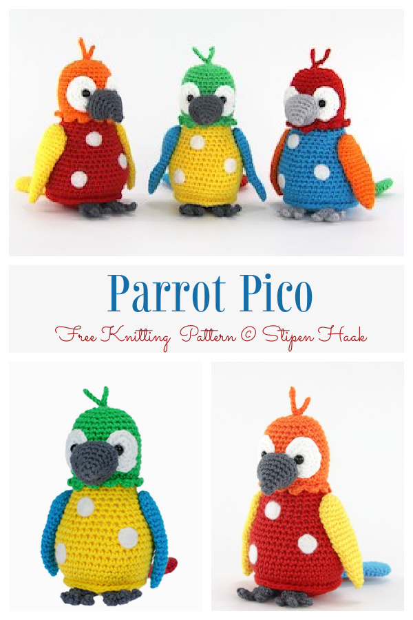 Crochet Parrot Pico Amigurumi Free Patterns