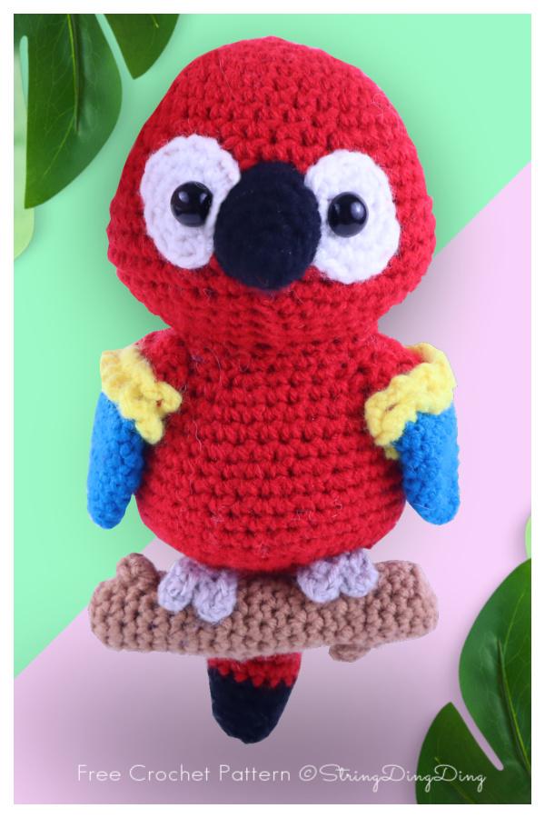 Crochet Kyle the Parrot Amigurumi Free Patterns