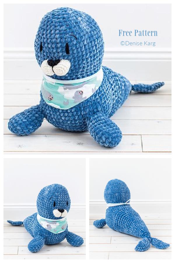 Crochet Benny the Seal Amigurumi Free Patterns