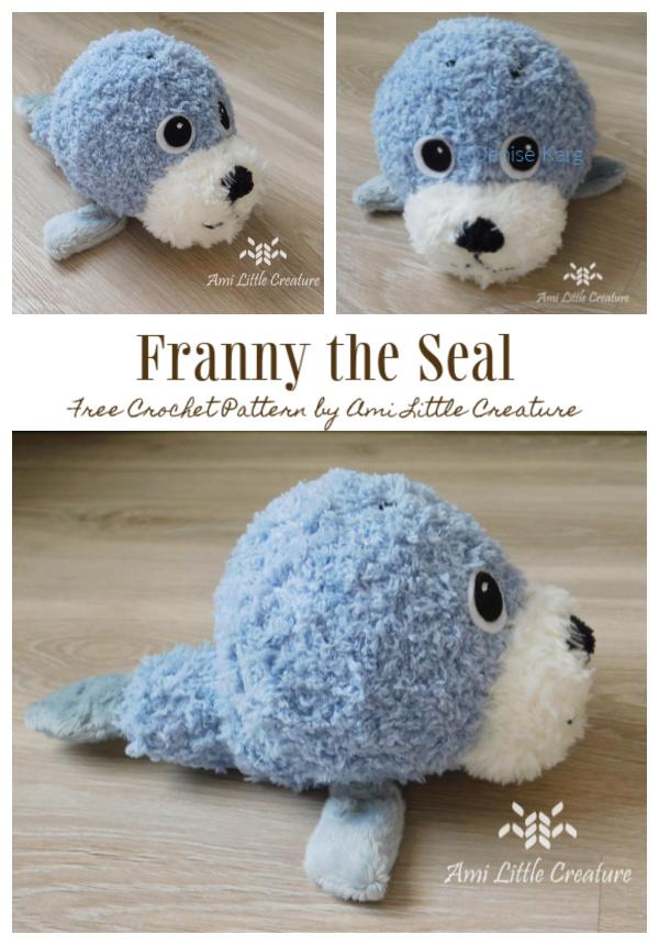 Crochet Franny the Seal Amigurumi Free Patterns