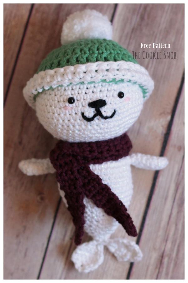 Crochet Holiday Seal Amigurumi Free Patterns
