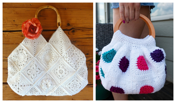 Granny Squares Bag Free Crochet Patterns