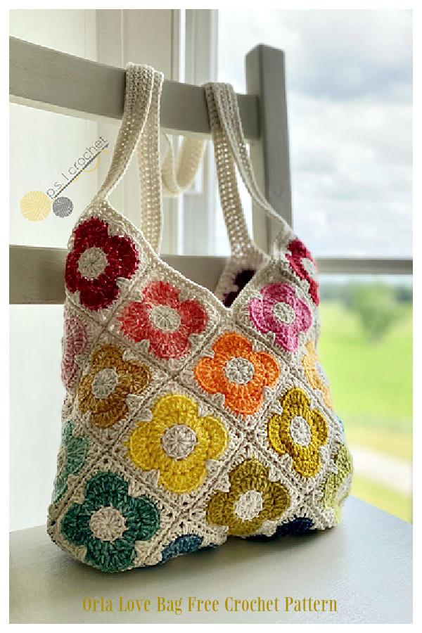 Sweet Summer Sunflower Bag Free Crochet Patterns