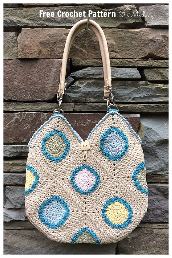 Granny Squares Fair Day Tote Bag Free Crochet Patterns