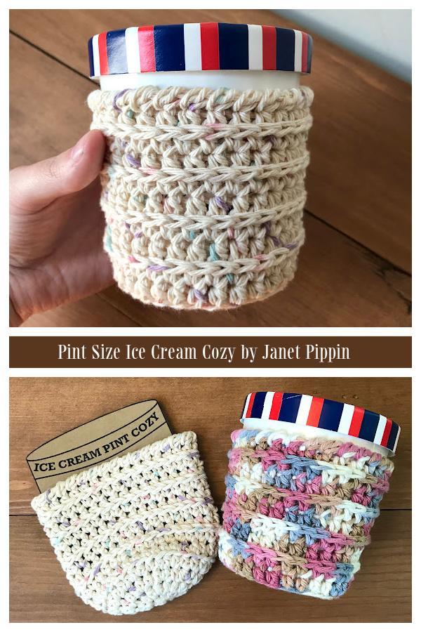 Pint Size Ice Cream Cozy Crochet Patterns