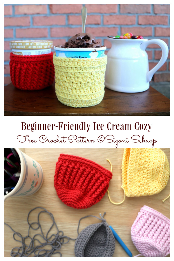 Beginner-Friendly Ice Cream Cozy Free Crochet Pattern