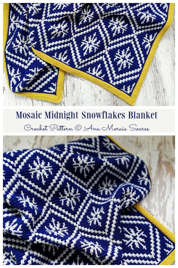 Midnight Snowflakes Blanket
