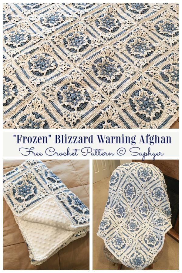 Blizzard Warning Snowflake Blanket Free Crochet Patterns