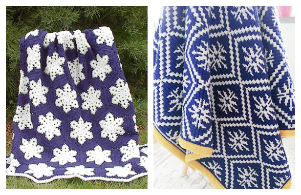Snowflake Blanket Free Crochet Patterns