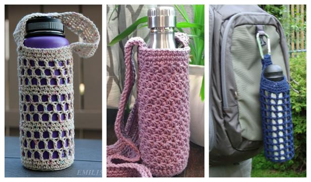 Water Bottle Holder Free Crochet Patterns