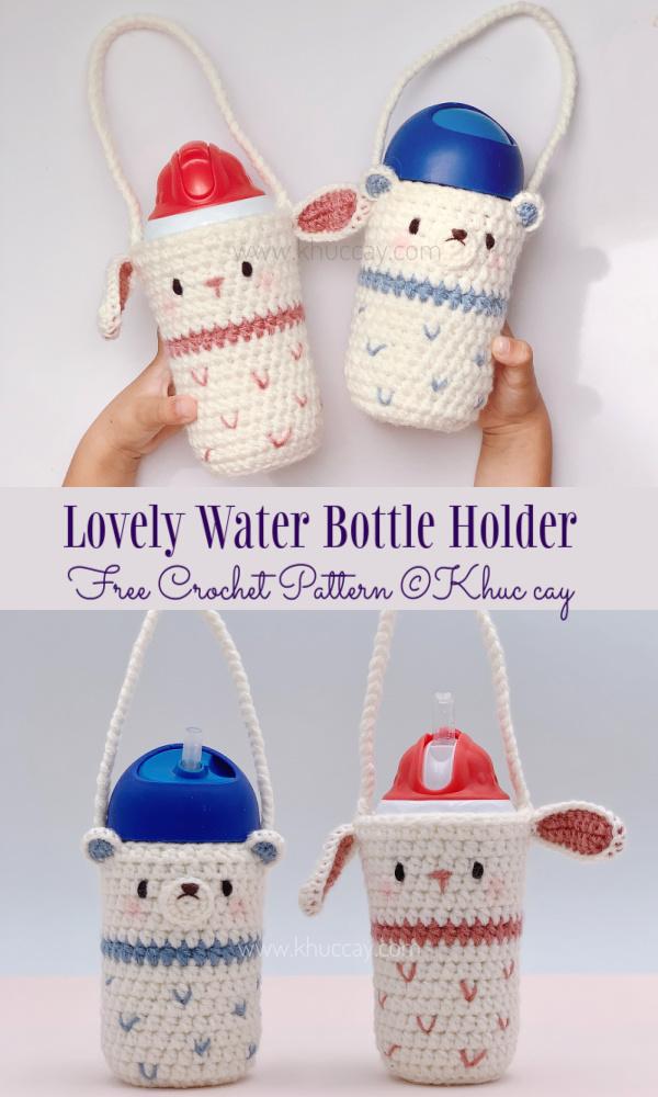 Lovely Water Bottle Holder Free Crochet Patterns