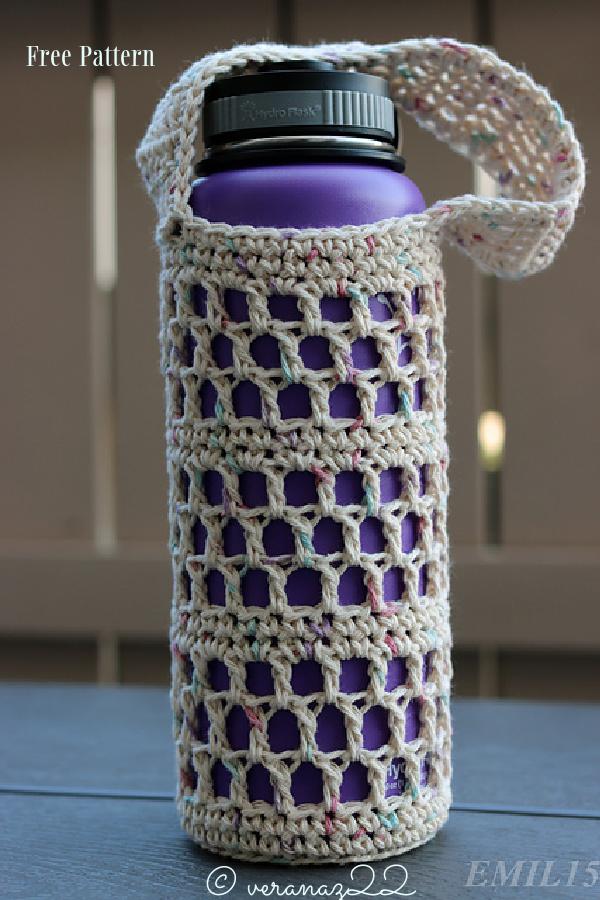 Stainless Steel Water Bottle Sling Free Crochet Patterns