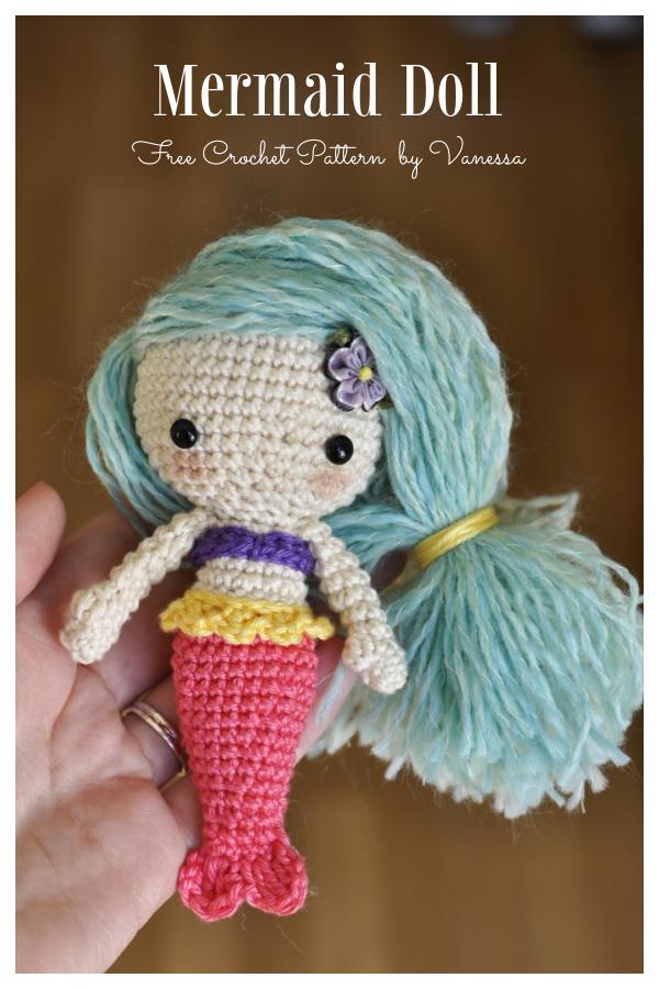 Crochet Lovely Mermaid Doll Amigurumi Free Patterns