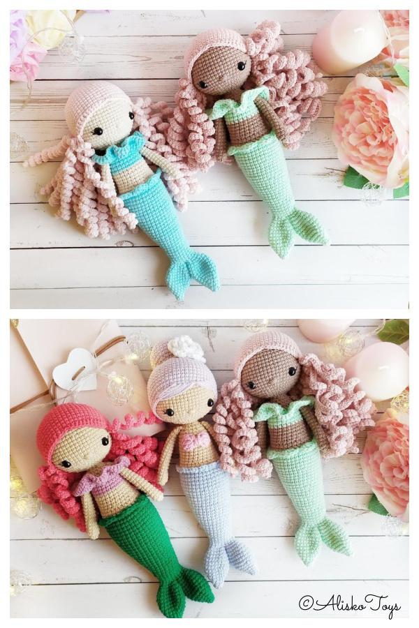 Crochet Doll Mermaid 3in1 Amigurumi Patterns