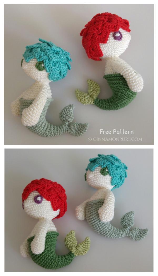 Crochet Klara the Mermaid Doll Amigurumi Free Patterns