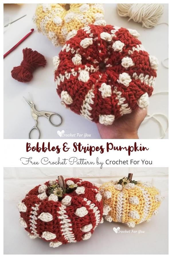 Bobbles & Stripes Pumpkin Free Crochet Patterns