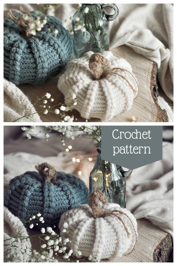 Puff Stitch Pumpkin  Crochet Patterns