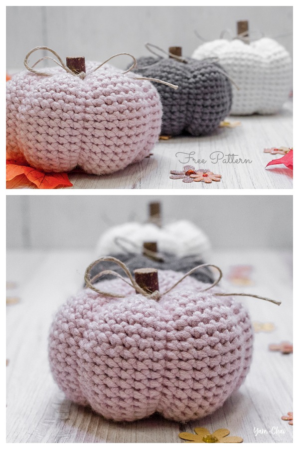 Amigurumi Petite Autumn Pumpkin Free Crochet Patterns