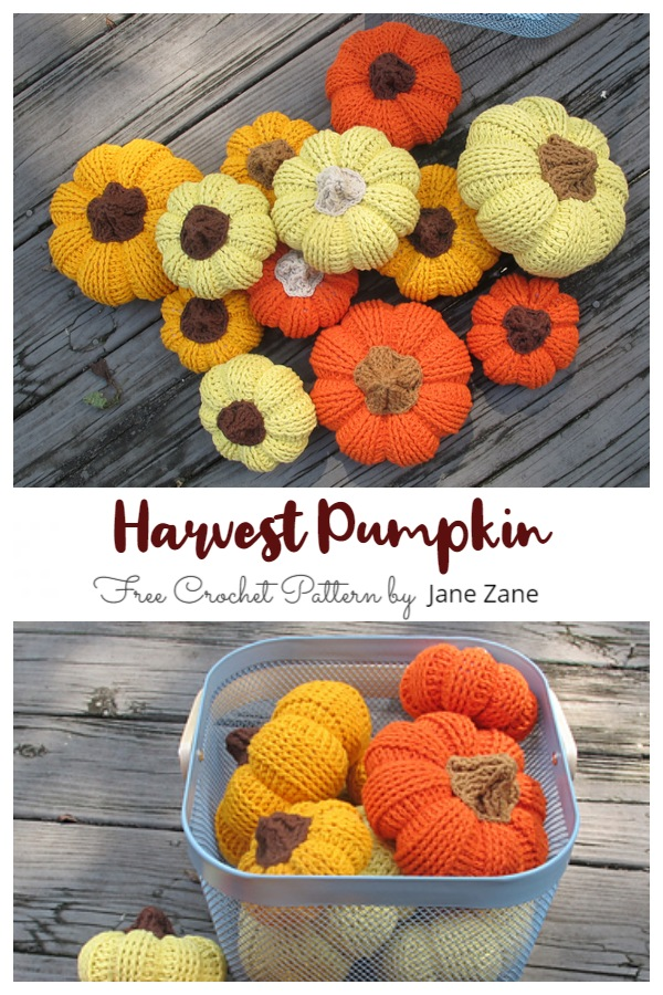 Harvest Pumpkin Free Crochet Patterns