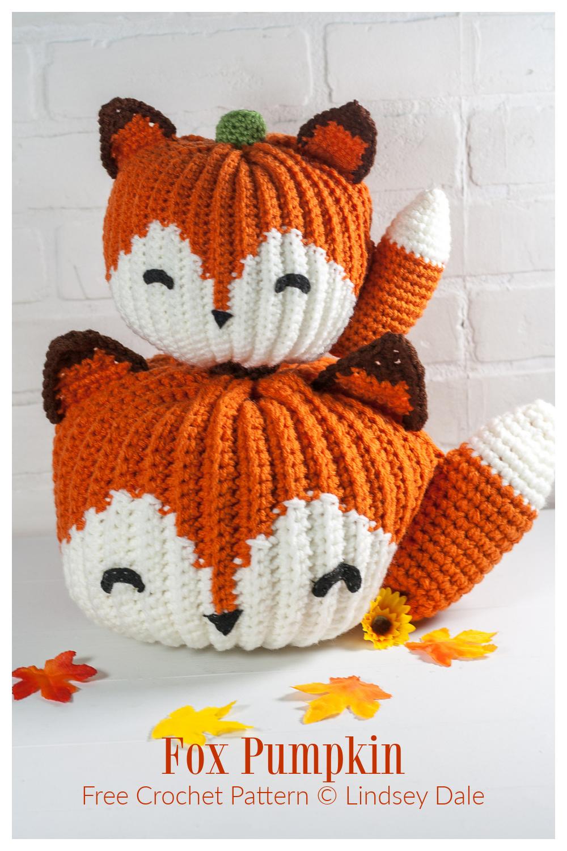 Amigurumi Fox Pumpkin Free Crochet Patterns