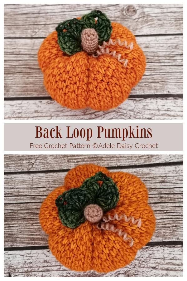 Back Loop Pumpkin Free Crochet Patterns