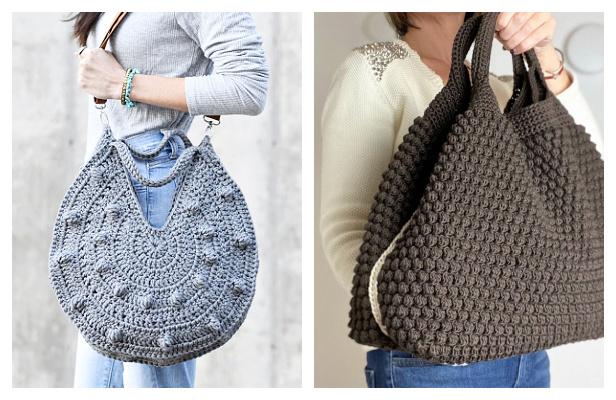 Bobble Stitch Bag Free Crochet Patterns