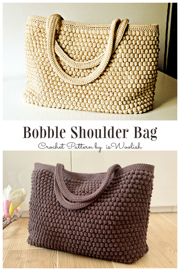 Bobble Stitch Shoulder Bag Crochet Patterns
