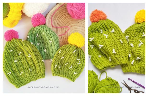 Cactus Beanie Hat Free Crochet Patterns