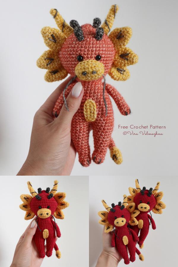 Crochet Little Dragon Amigurumi Free Pattern