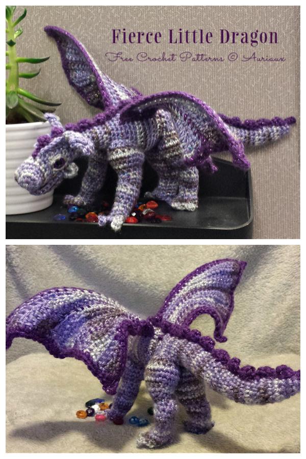 Crochet Fierce Little Dragon Amigurumi Free Pattern