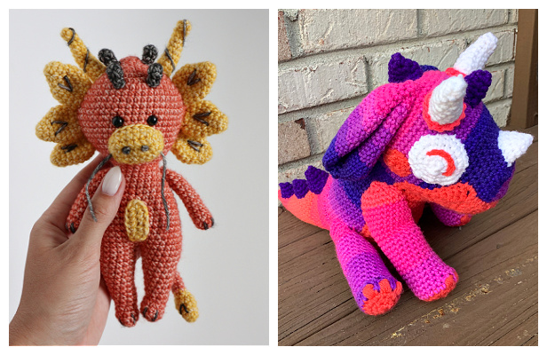 Crochet Little Dragon Amigurumi Free Patterns