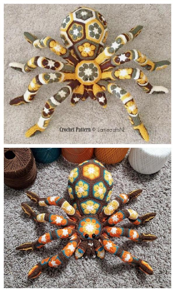 Crochet Giant African Flower Spider Amigurumi Patterns