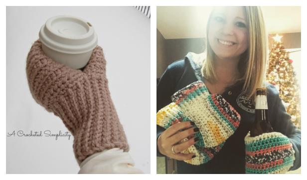 Coffee/Beer Drink Buddy Mitten Crochet Patterns