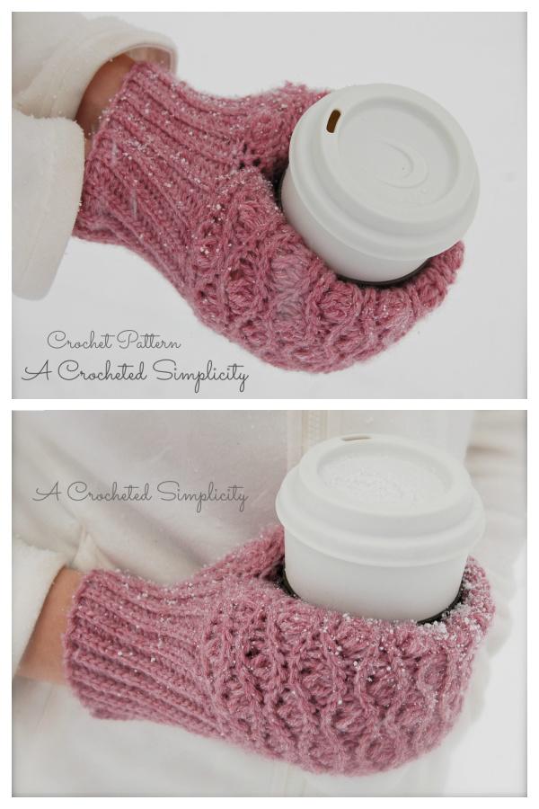 Winter Waves Coffee Beer & Ice Cream Mitt Crochet Patterns