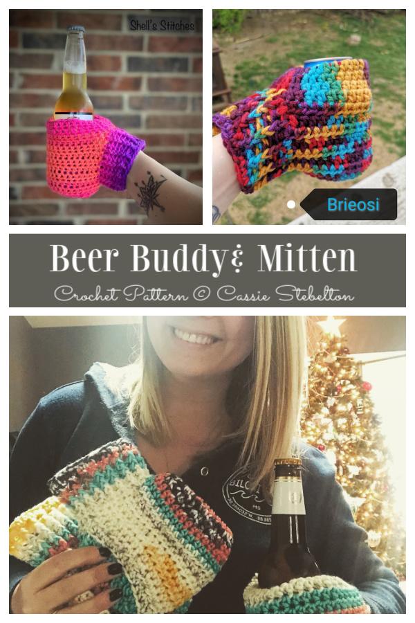 Beer Buddy Mitten Crochet Patterns