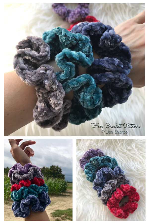 Sophie Hair Scrunchies Free Crochet Patterns