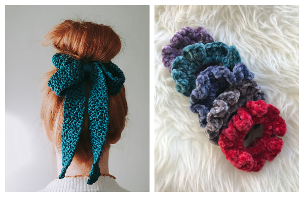 Hair Scrunchies Free Crochet Patterns