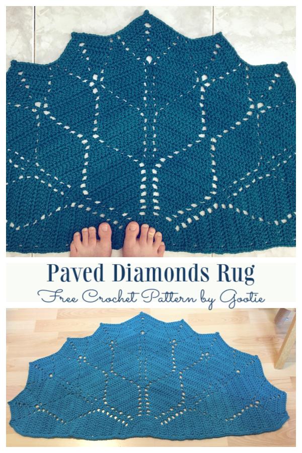 Paved Diamonds Rug Free Crochet Patterns