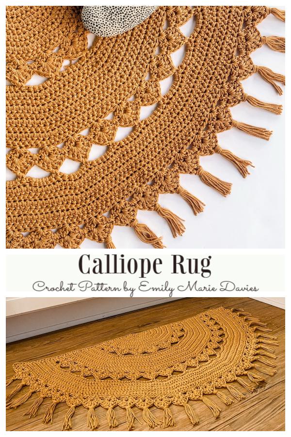 Half Circle Calliope Rug Crochet Patterns