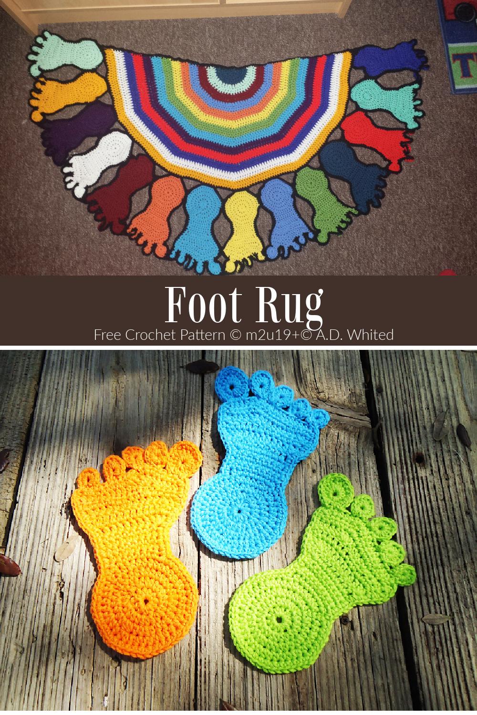 Half Circle Foot Rug Free Crochet Patterns