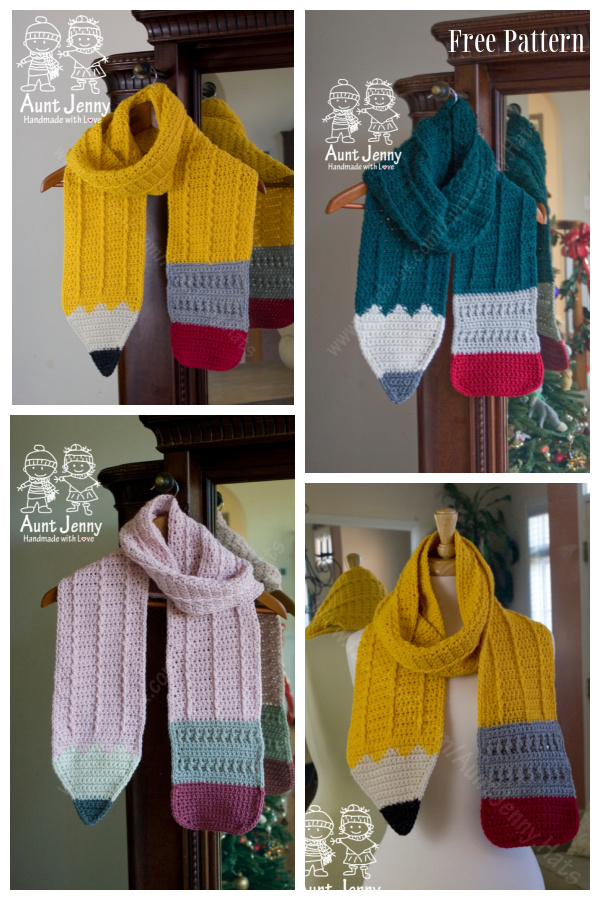 The Sharpened Pencil Scarf Free Crochet Patterns