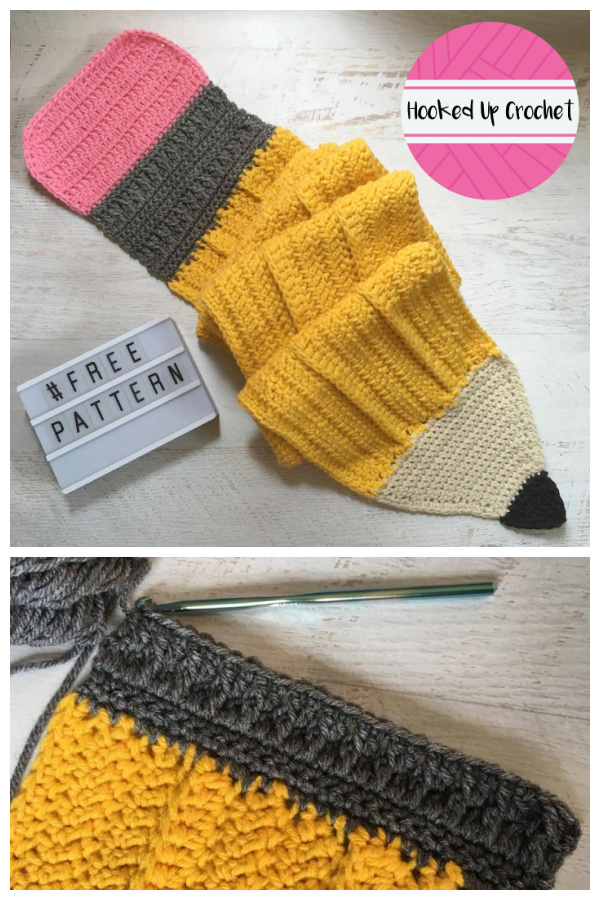 The Big Pencil Scarf Free Crochet Patterns for BTS